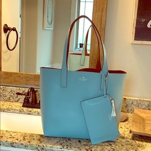 NWT Kate Spade reversible tote w/ wallet